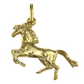 9ct Gold Rearing Horse Charm