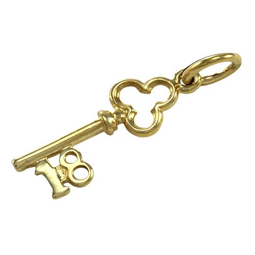 9ct Gold Small 18th Birthday Key Charm