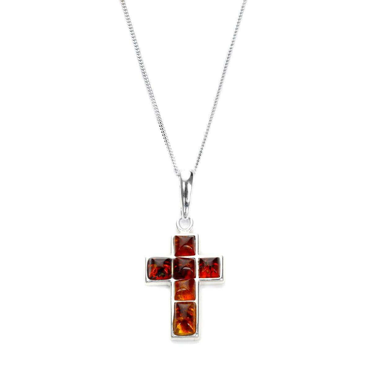 Sterling silver baltic amber cross pendant sayerslondon sterling silver baltic amber cross pendant mozeypictures Gallery