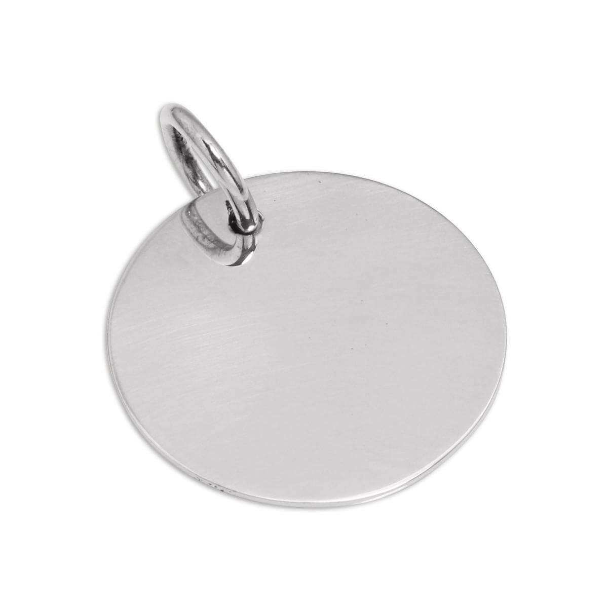 Large Sterling Silver Round Dog Collar Engraveable Tag