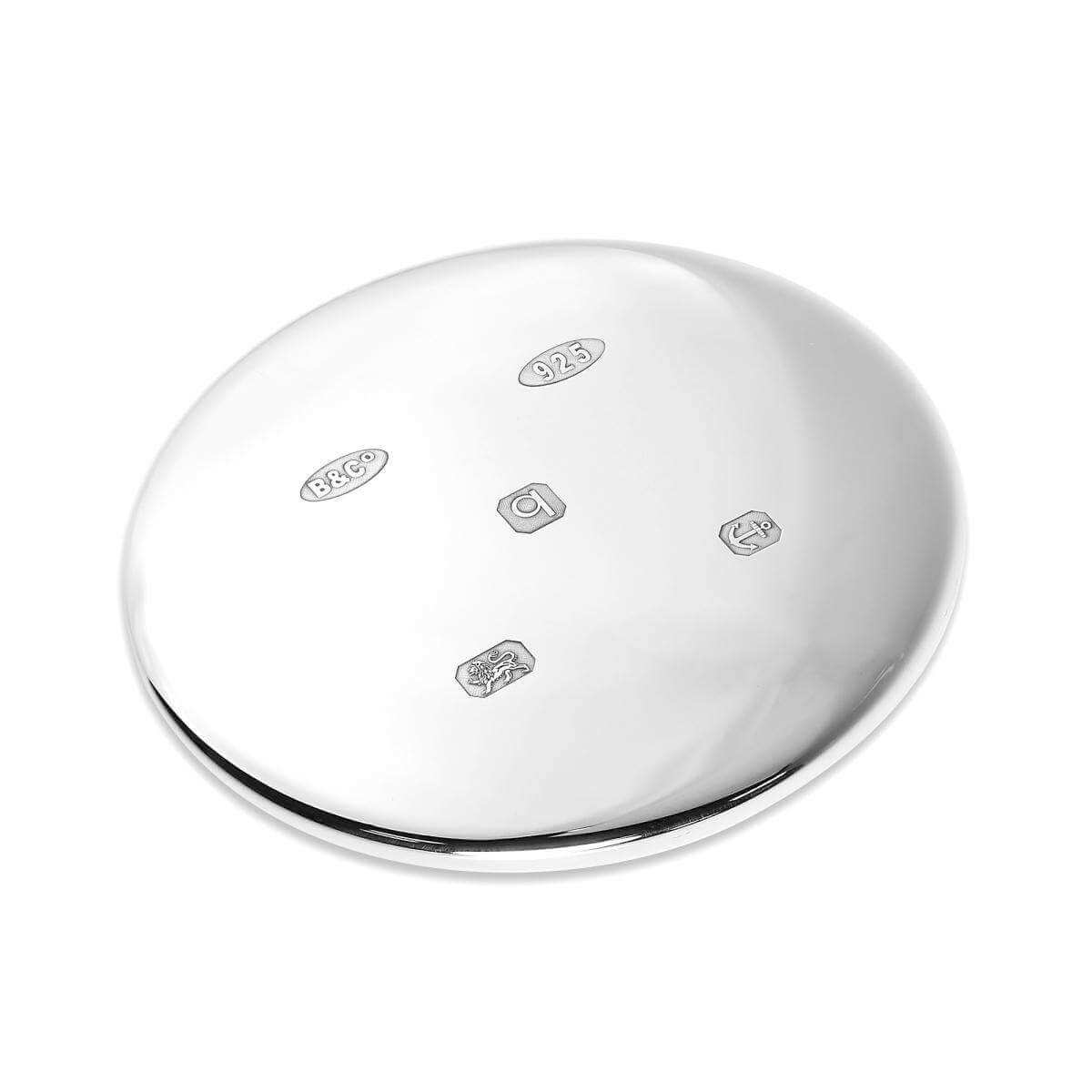 Sterling Silver Feature Hallmark Round Hand Mirror