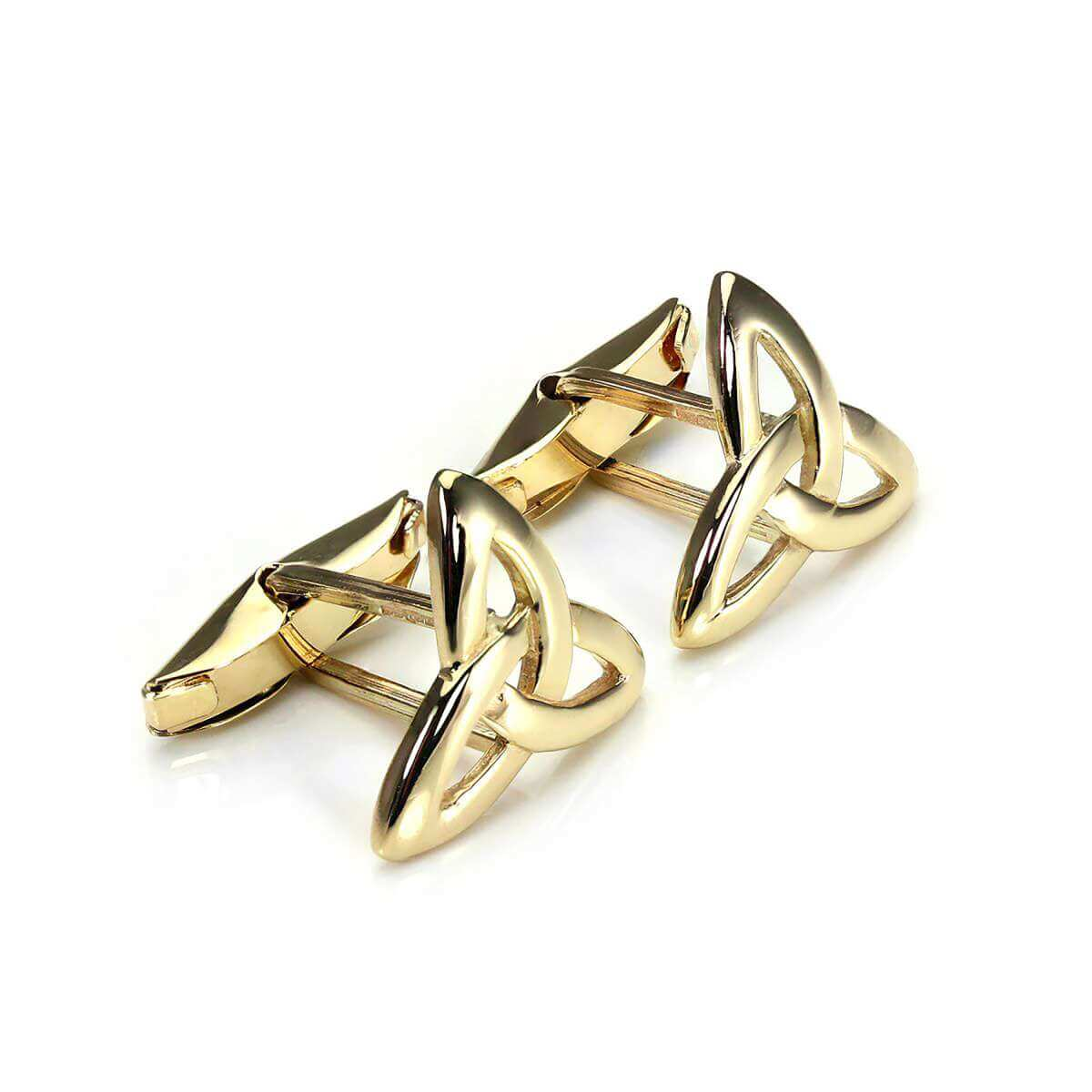 9ct Gold Celtic Knot Swivel Back Cufflinks
