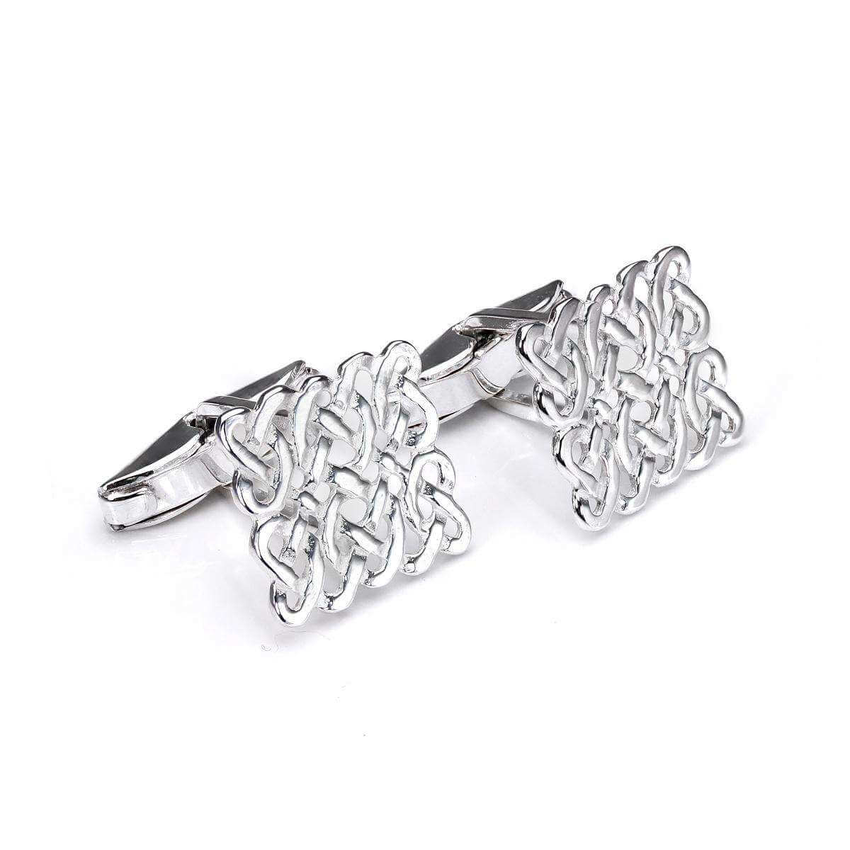 Sterling Silver Celtic Swivel Back Cufflinks