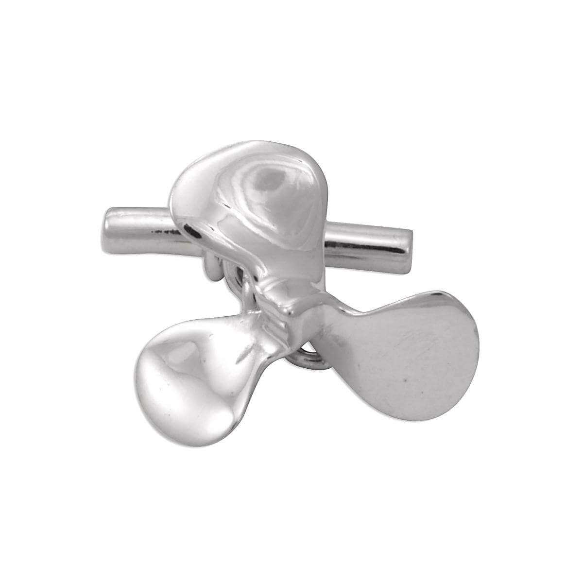 Sterling Silver Boat Propeller Cufflinks