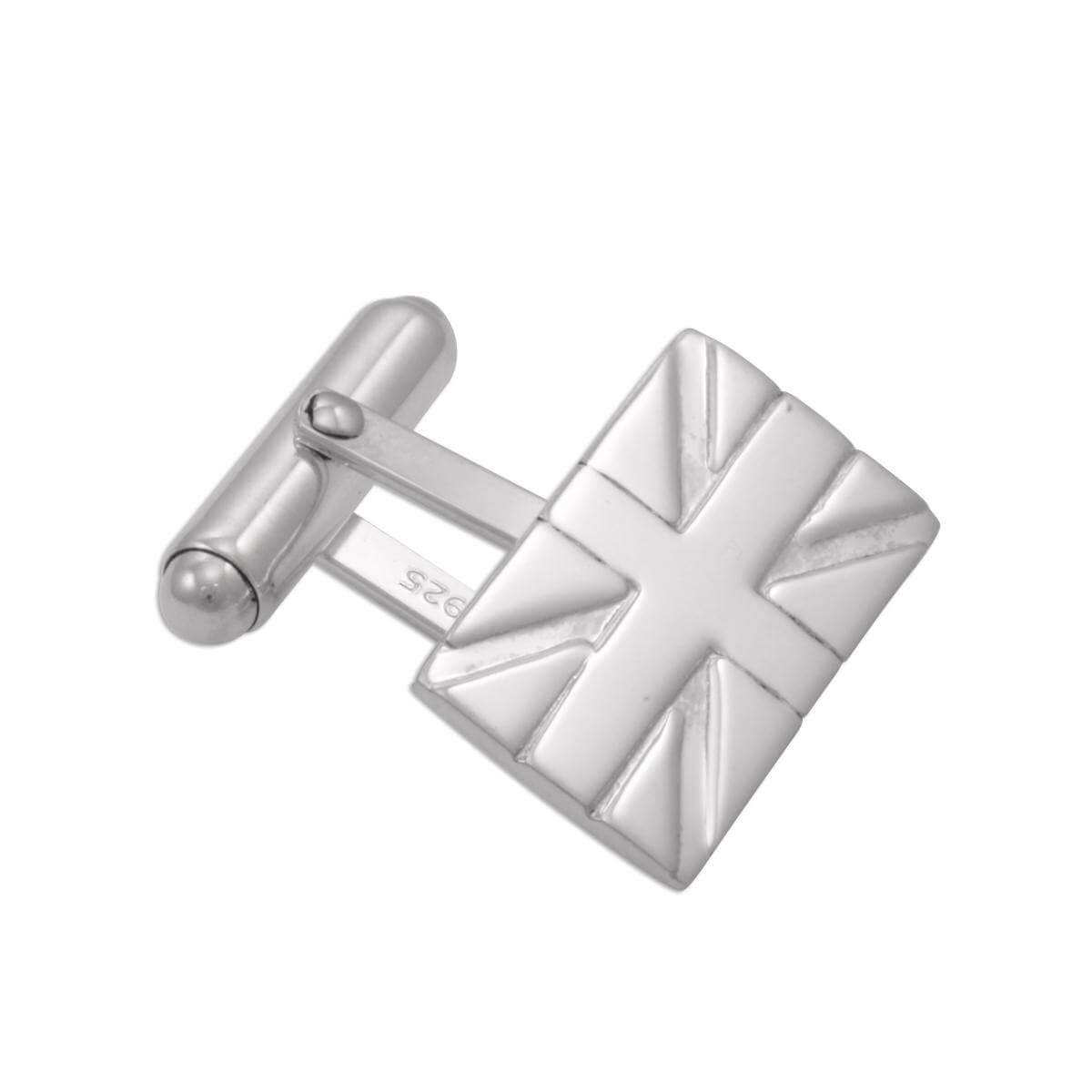 Sterling Silver Union Jack Cufflinks