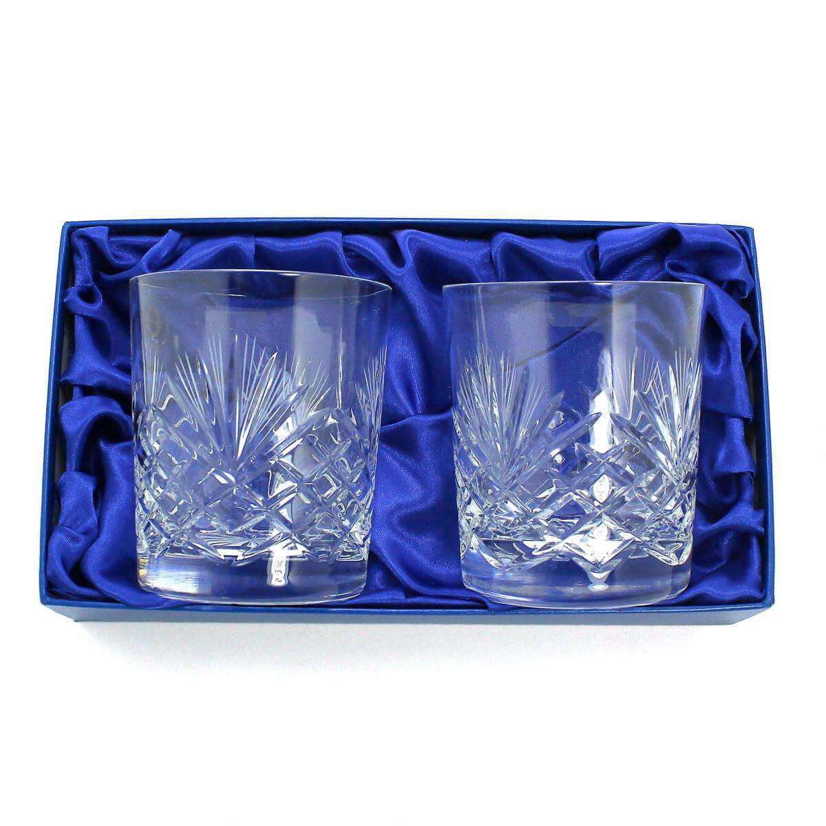 Set of 2 Old Fashioned 10oz Glass Tumblers