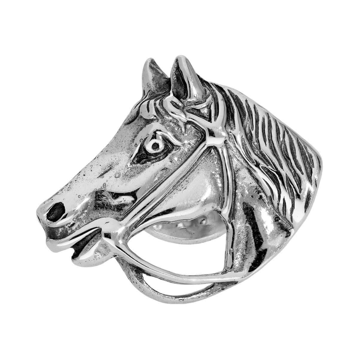 Sterling Silver Horse Head Tie Tack