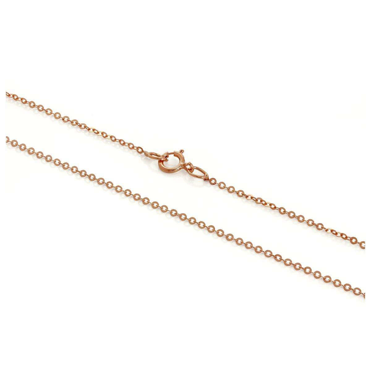 9ct Rose Gold Hammered Trace Chain 16 - 24 Inches
