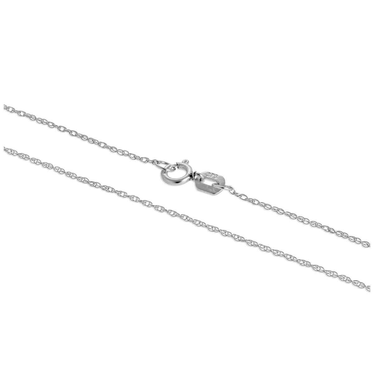 9ct White Gold Fine 18 Inch Prince of Wales Chain