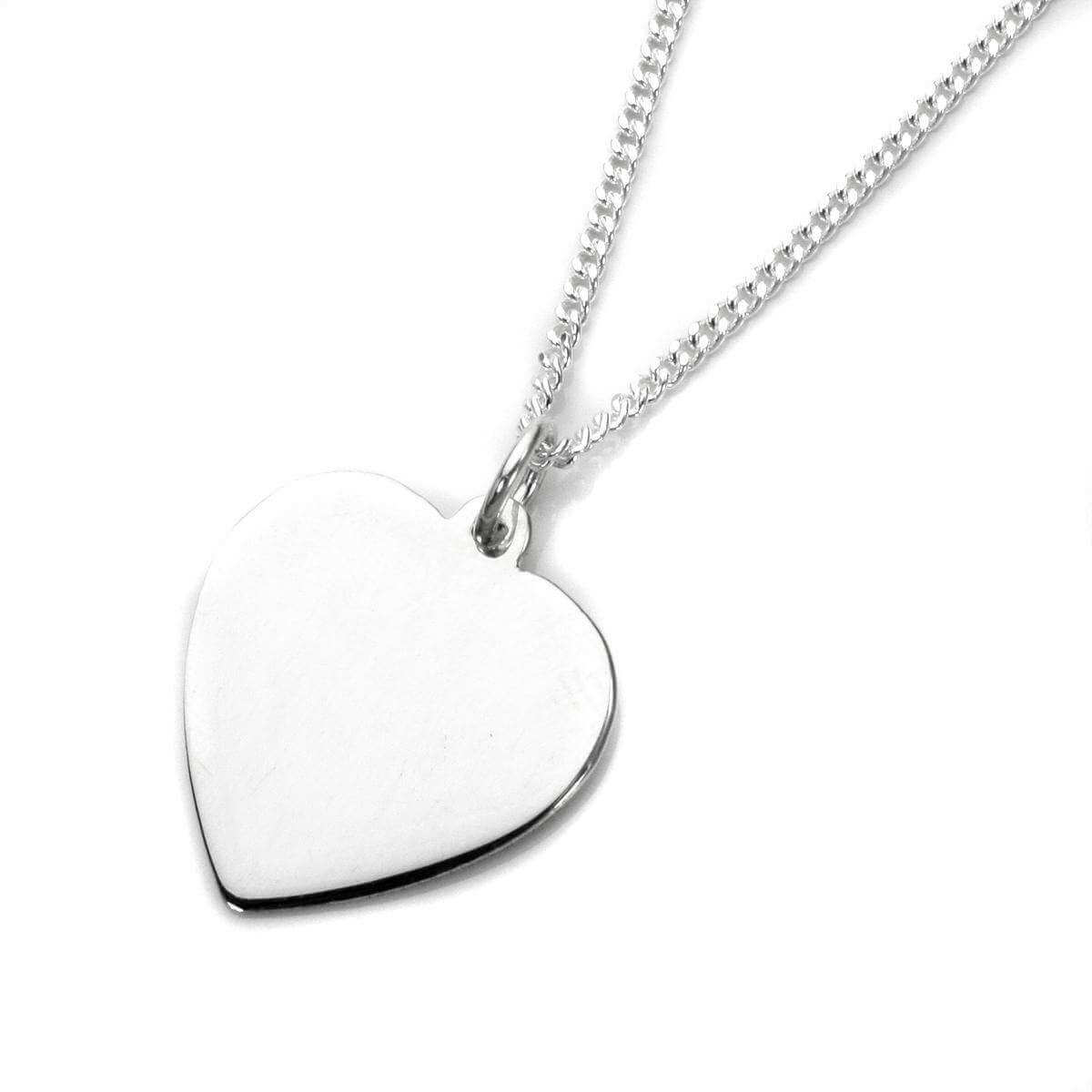 Sterling Silver Large Engravable Heart Pendant