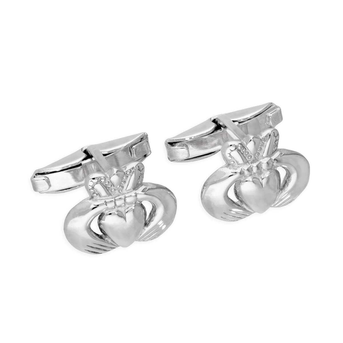 Sterling Silver Claddagh Swivel Back Cufflinks