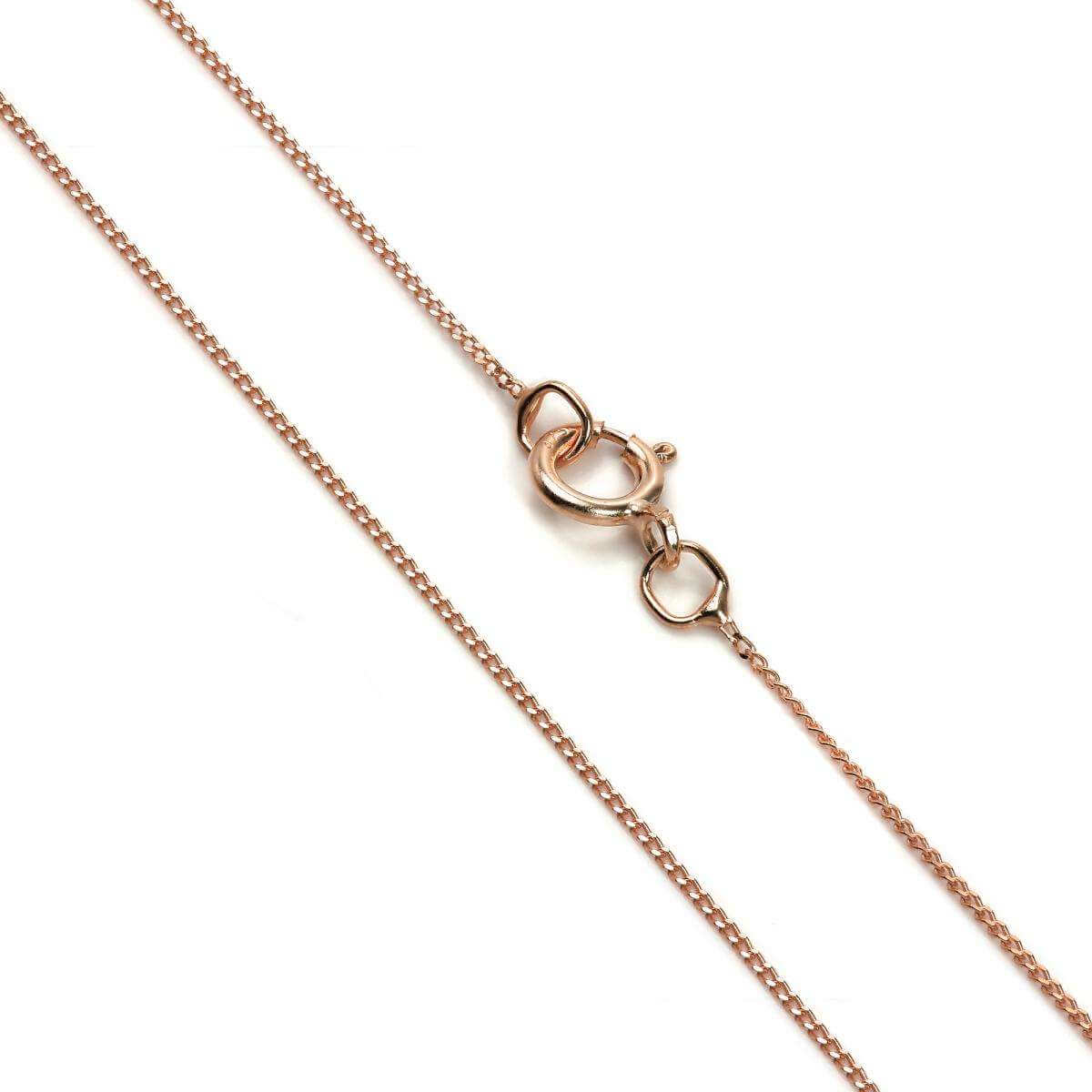 Fine 9ct Rose Gold Diamond Cut Curb Chain 16 - 18 Inches
