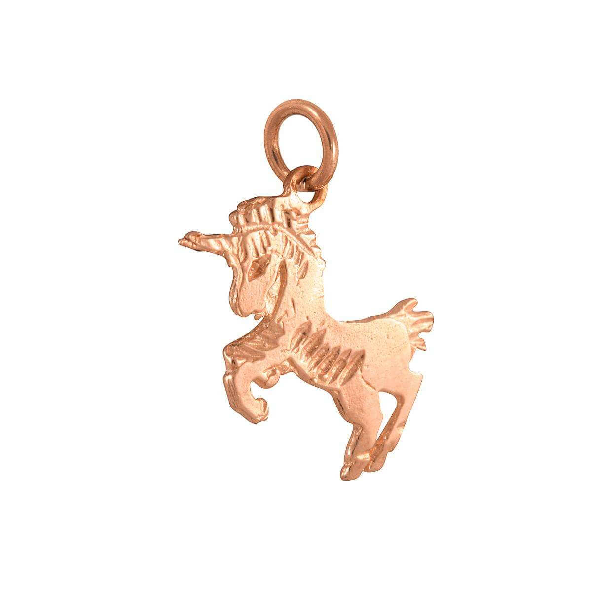 9ct Rose Gold Unicorn Charm