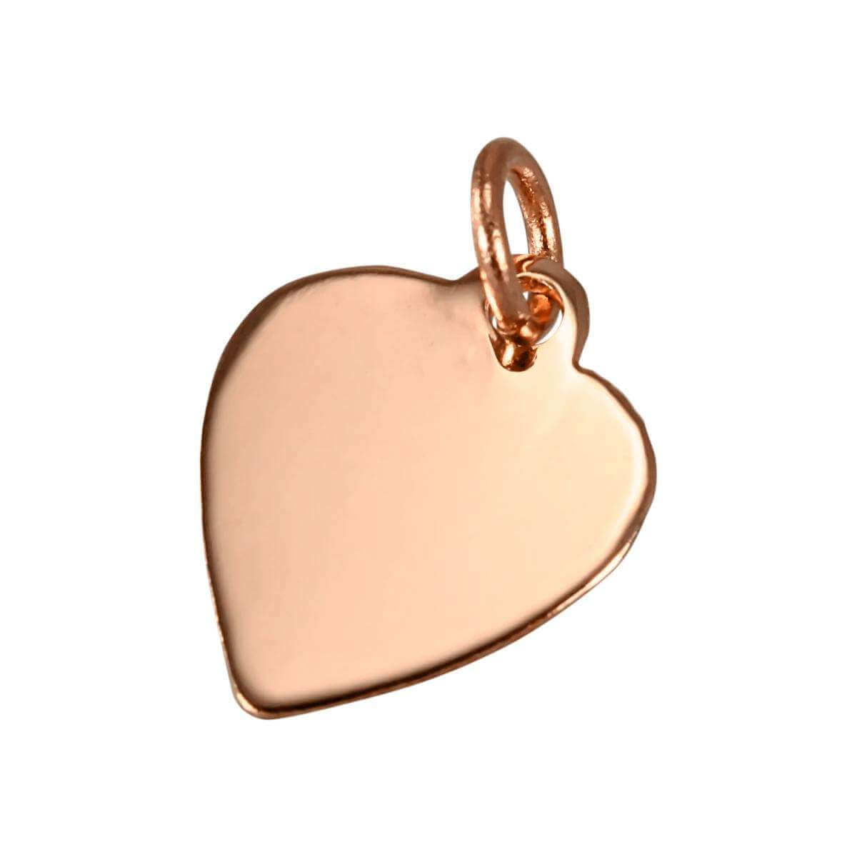 9ct Rose Gold Small Engravable Heart Pendant