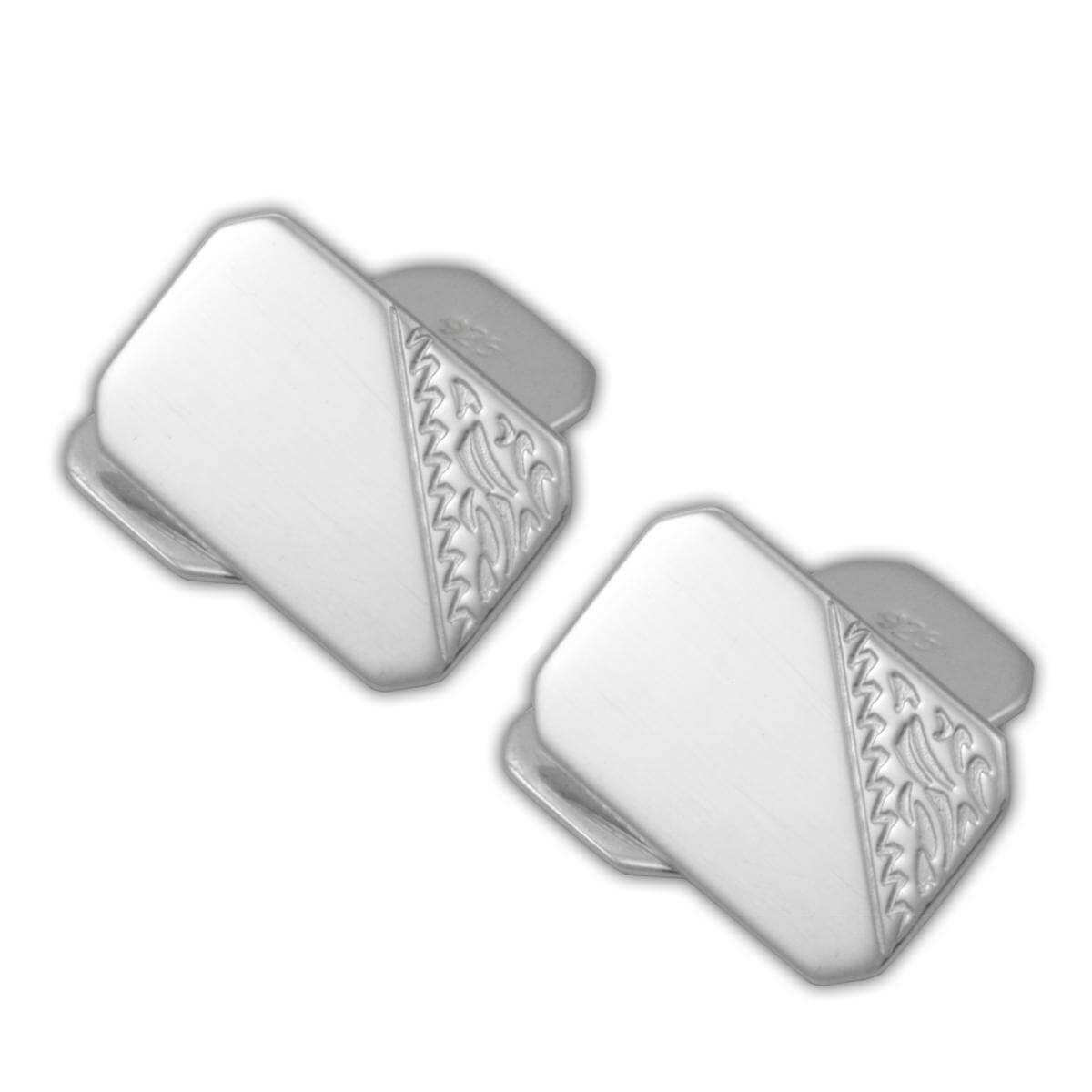 Sterling Silver Engraved Cufflinks