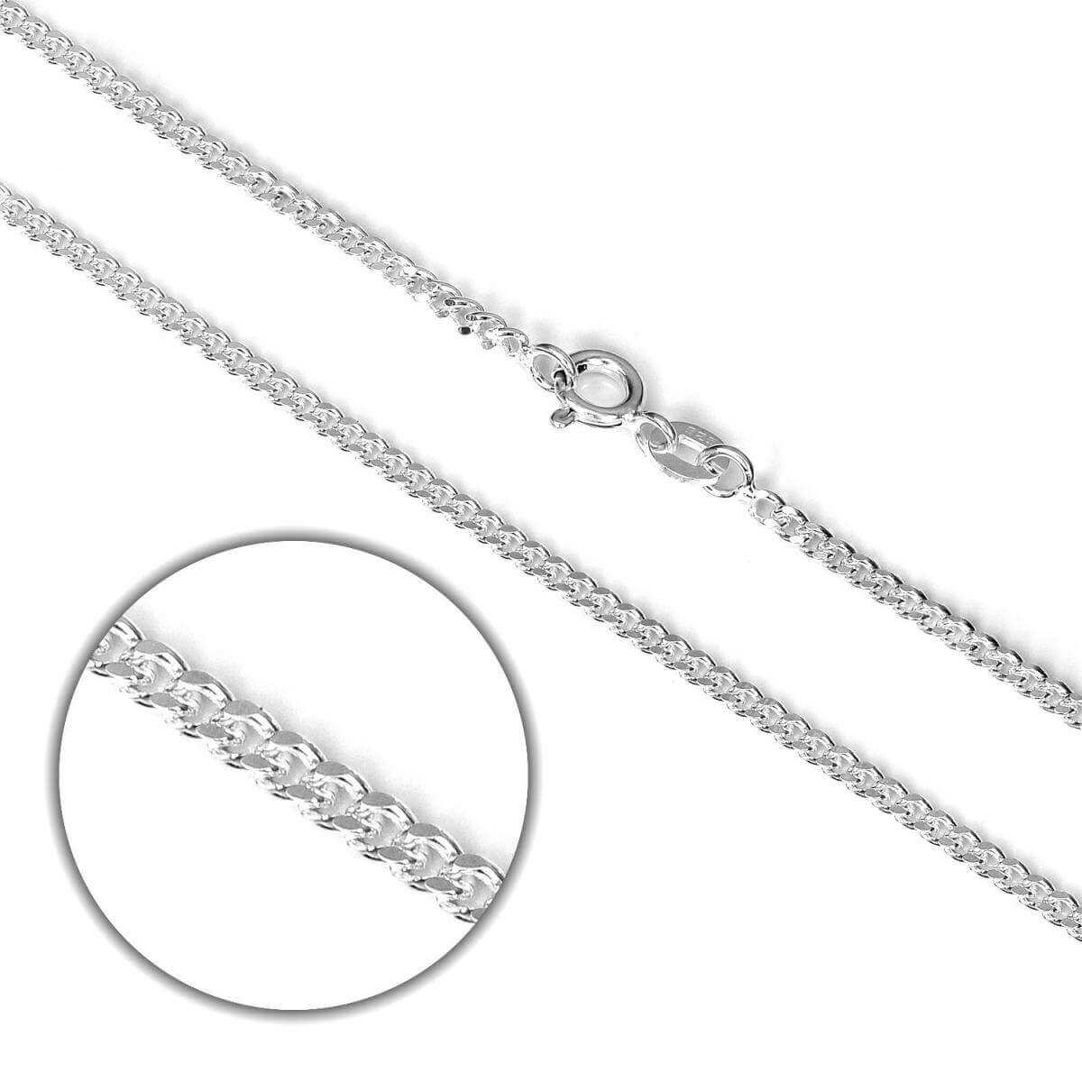 Sterling Silver Diamond Cut Curb Chain