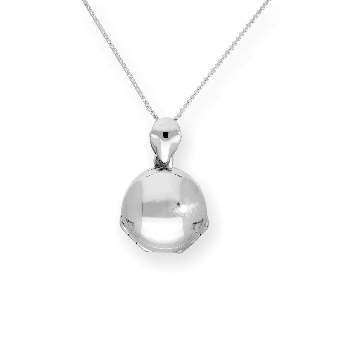 Tiny Sterling Silver 4 Photo Engravable Round Family Locket on Chain 16-22 Inches