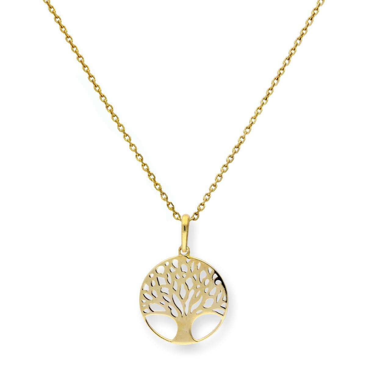9ct Gold Tree of Life Pendant Necklace