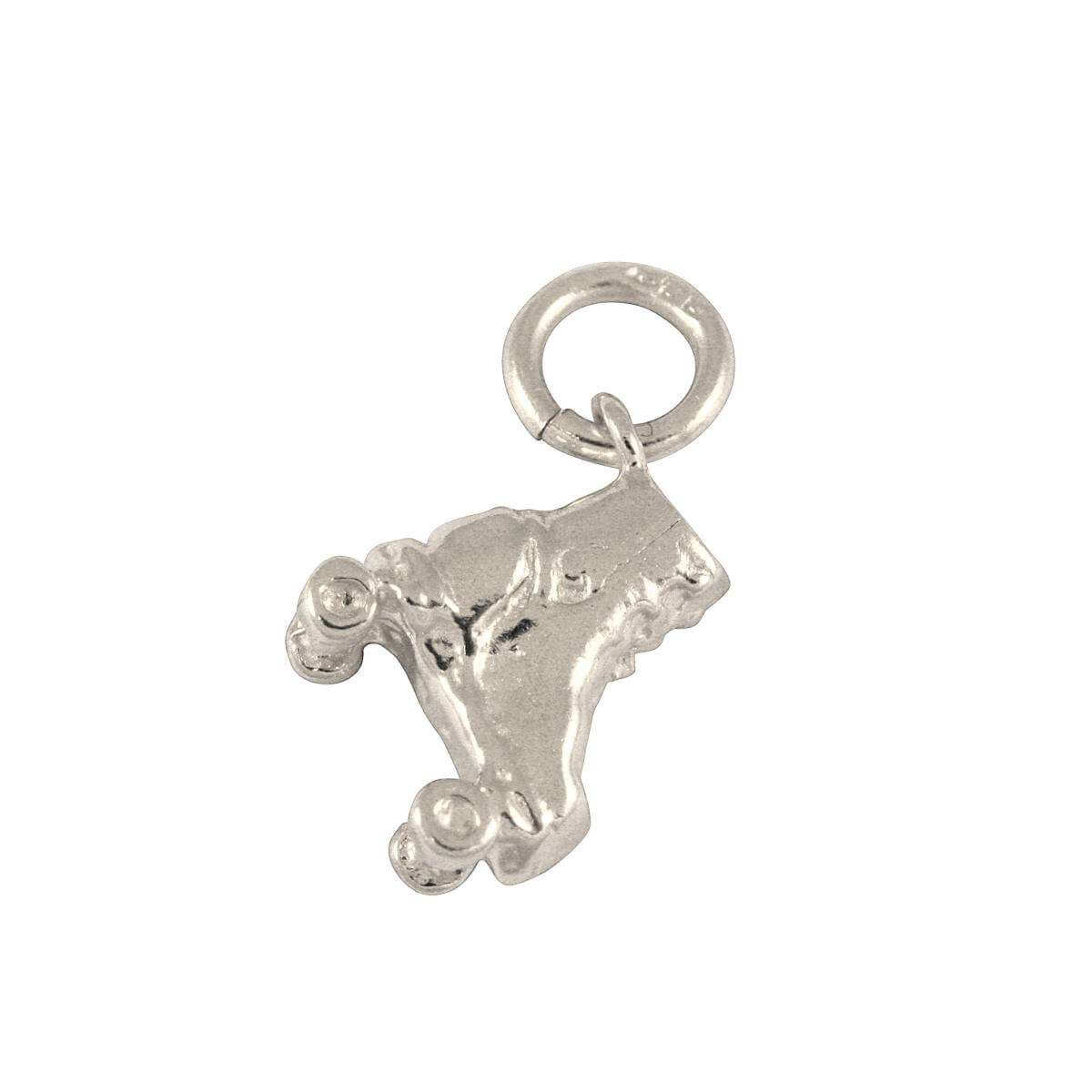 9ct White Gold Roller Skate Charm