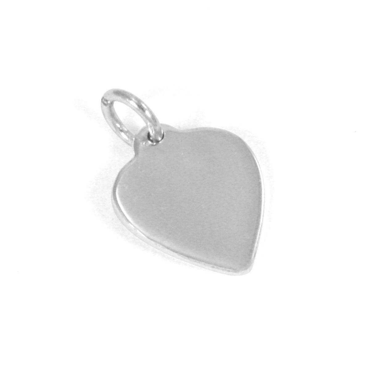 9ct White Gold Small Engravable Heart Pendant