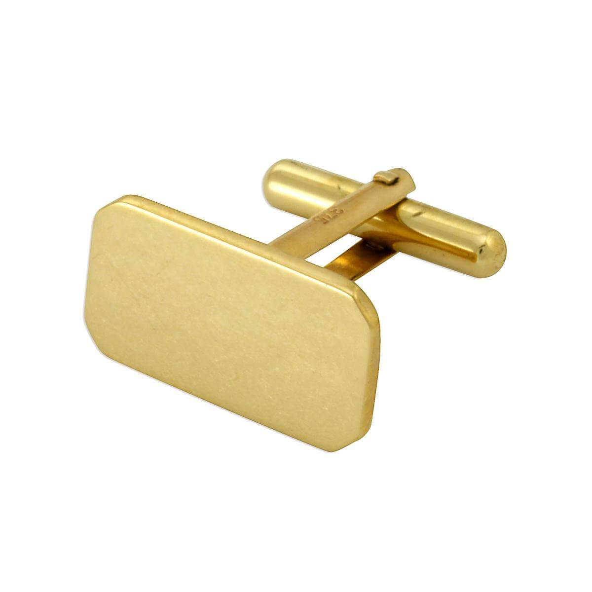 9ct Gold Classic Swivel Back Cufflinks