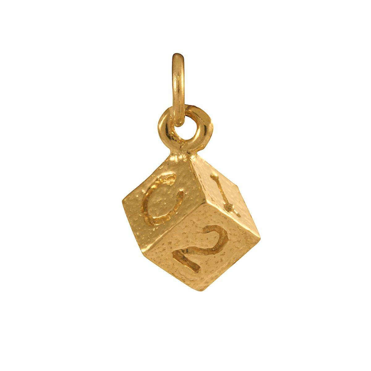 9ct Gold Block Charm