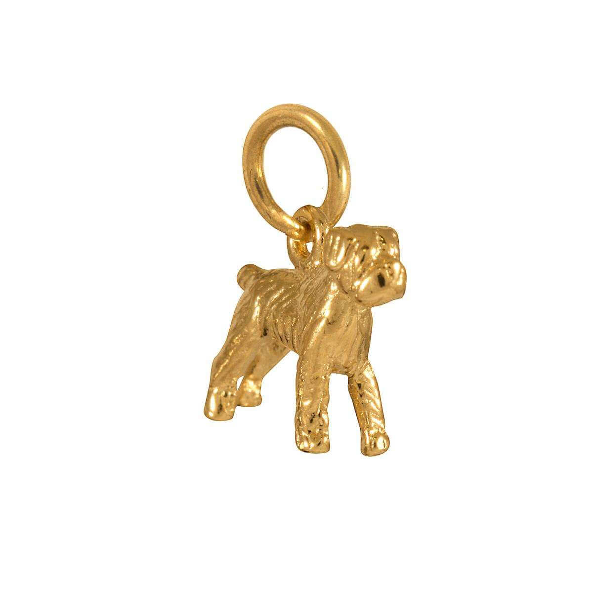 9ct Gold Terrier Boxer Charm