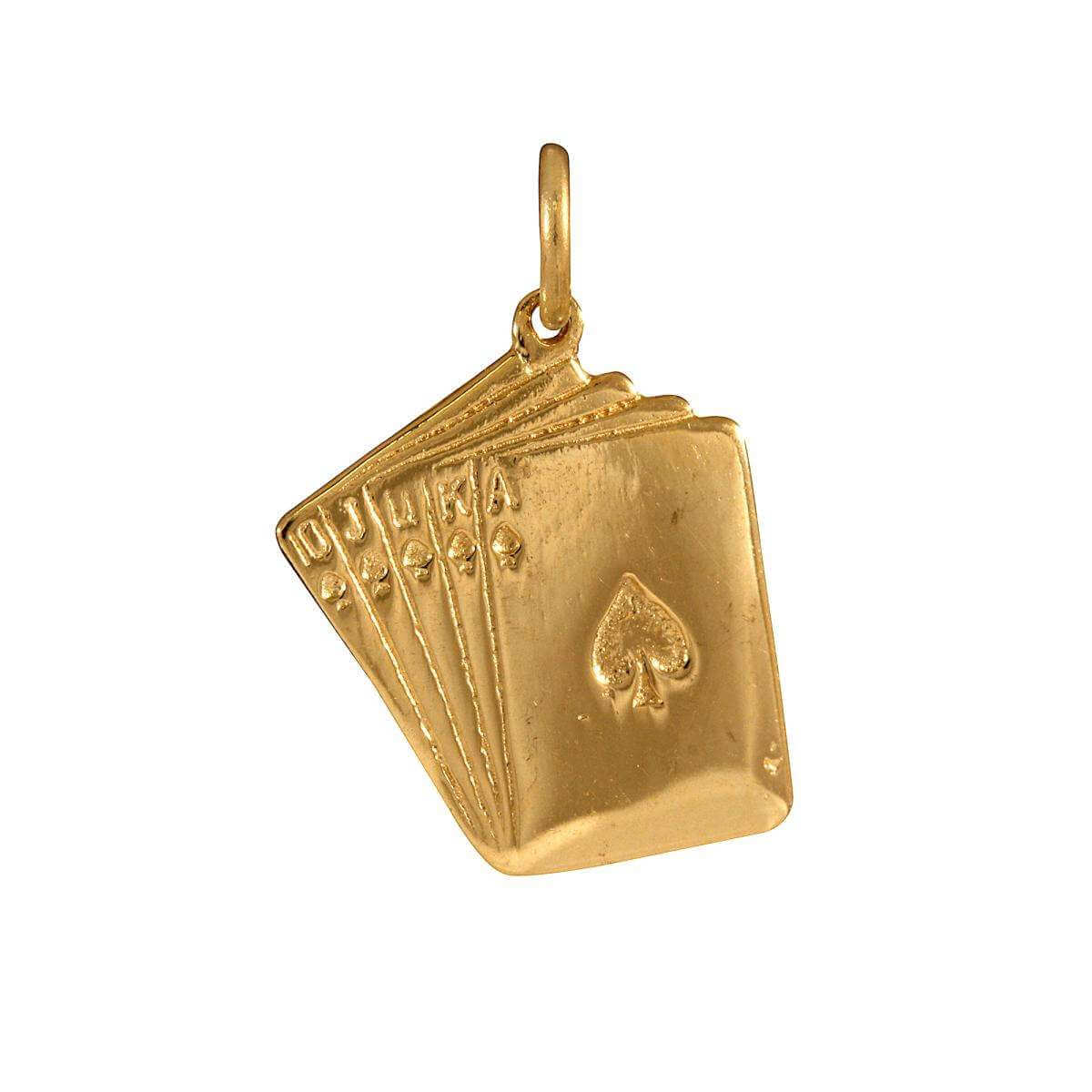 9ct Gold Playing Cards Charm