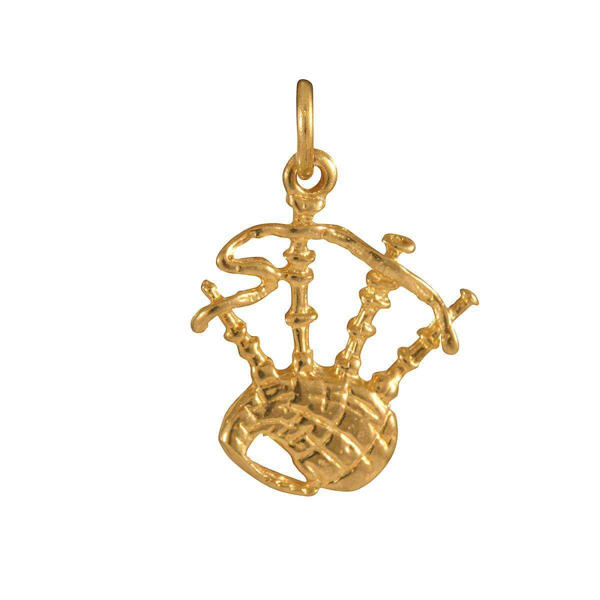 9ct Gold Bagpipes Charm