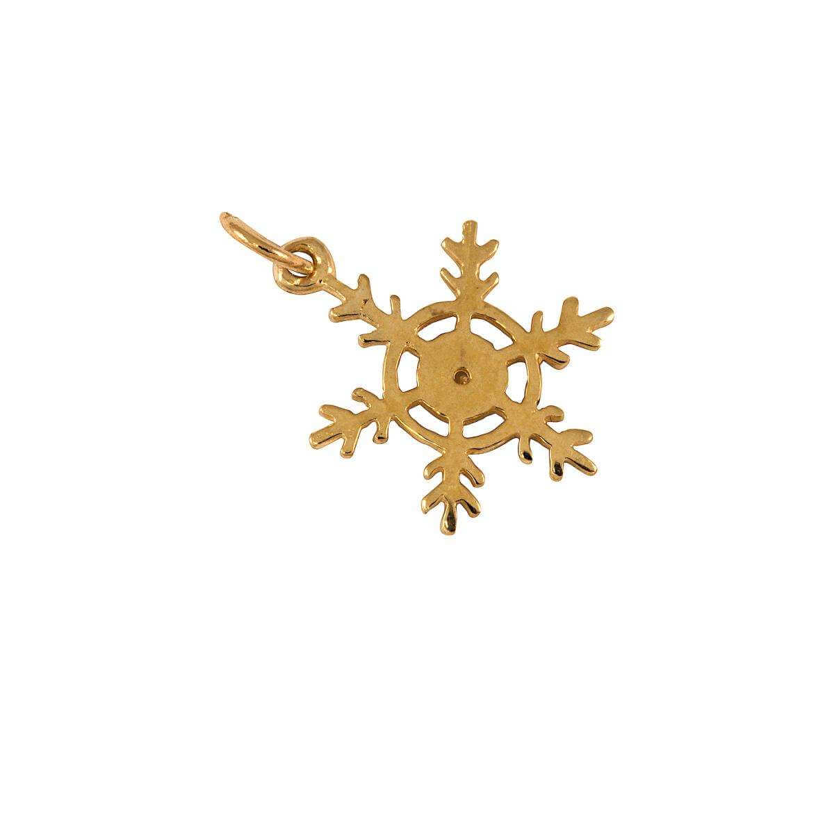 9ct Gold Snowflake Charm