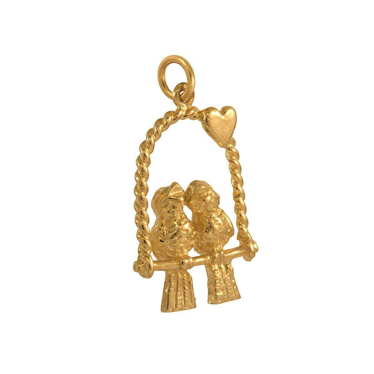 9ct Gold Love Birds Charms