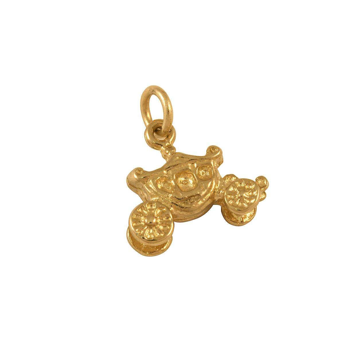 9ct Gold Carriage Charm