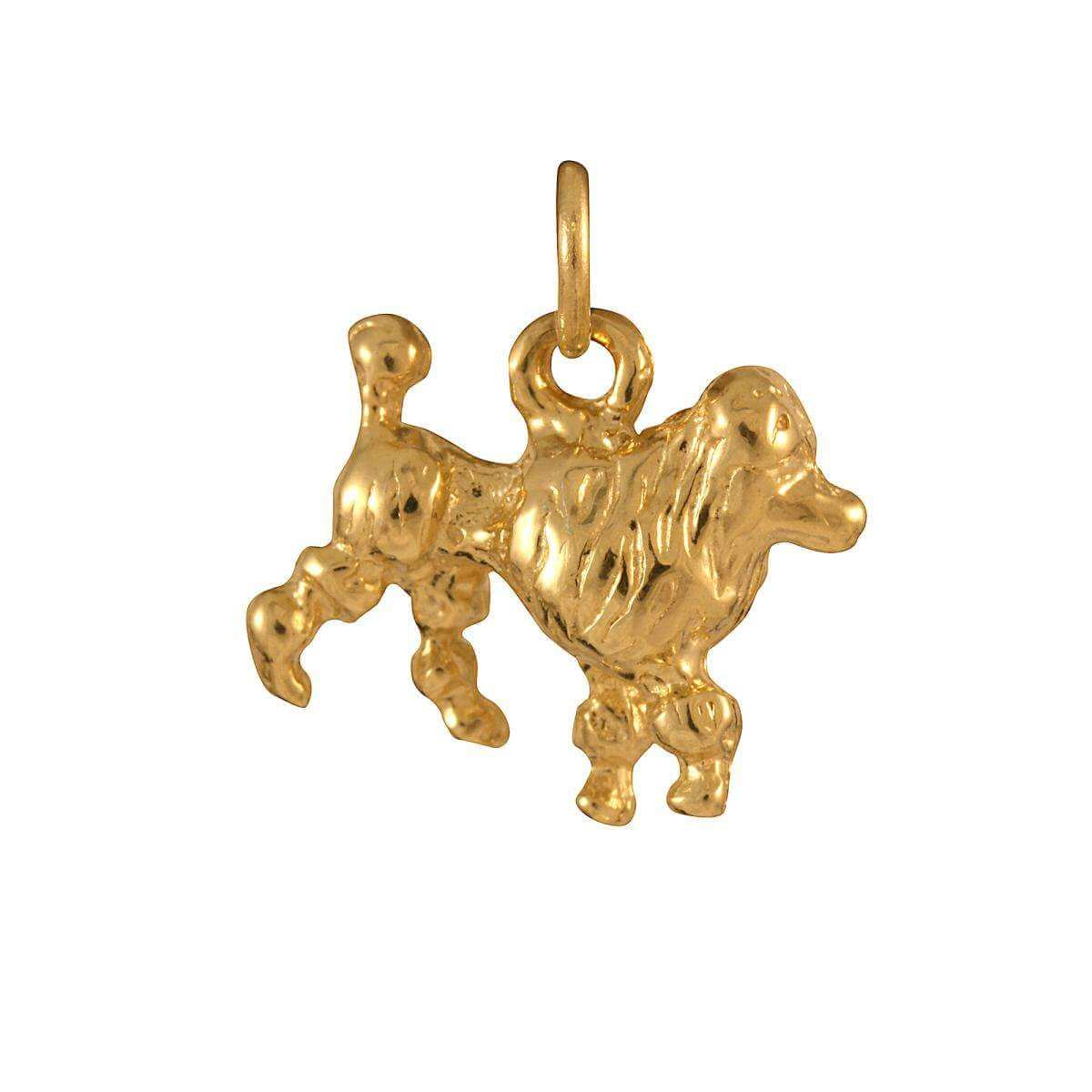 9ct Gold Poodle Charm