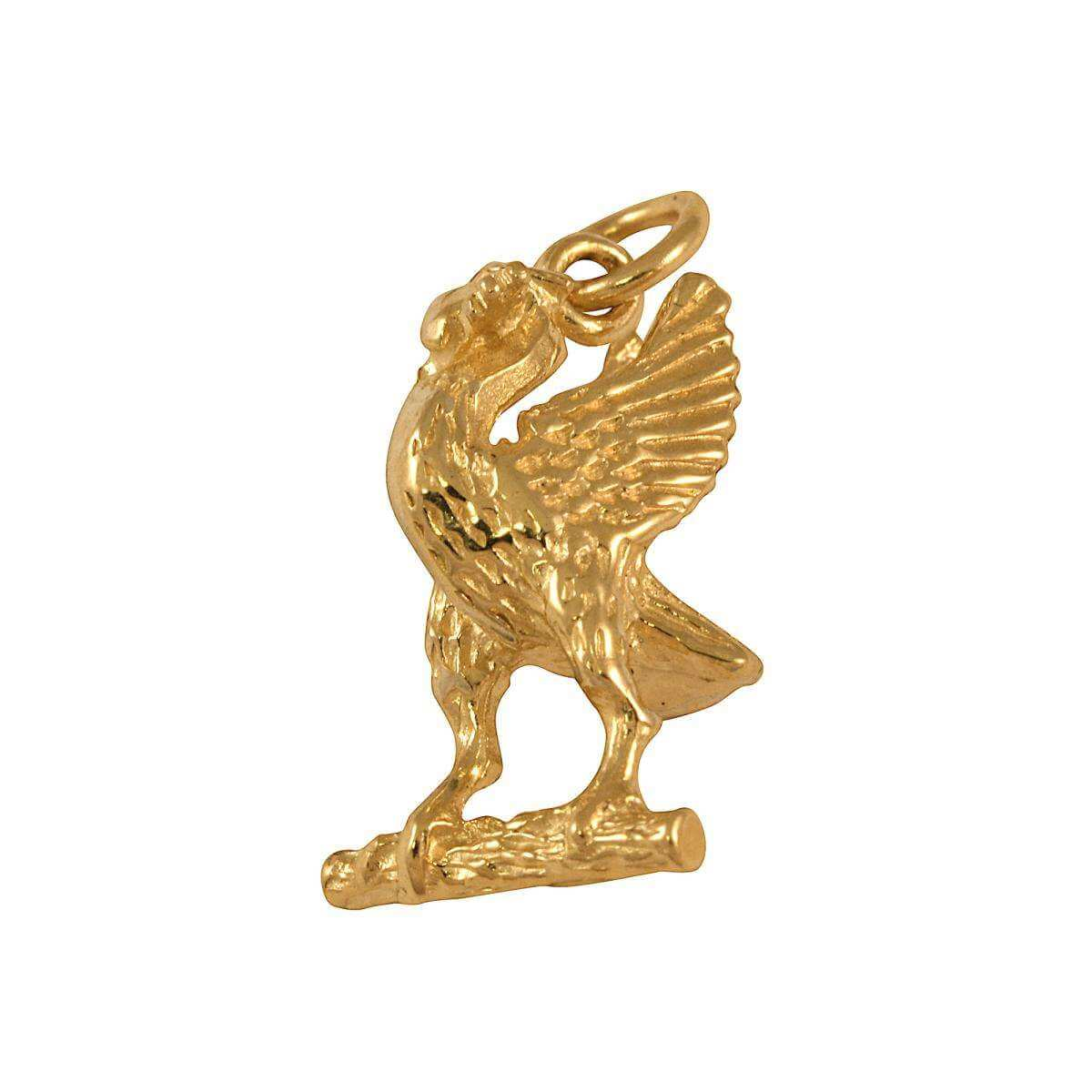 9ct Gold Liver Bird Charm