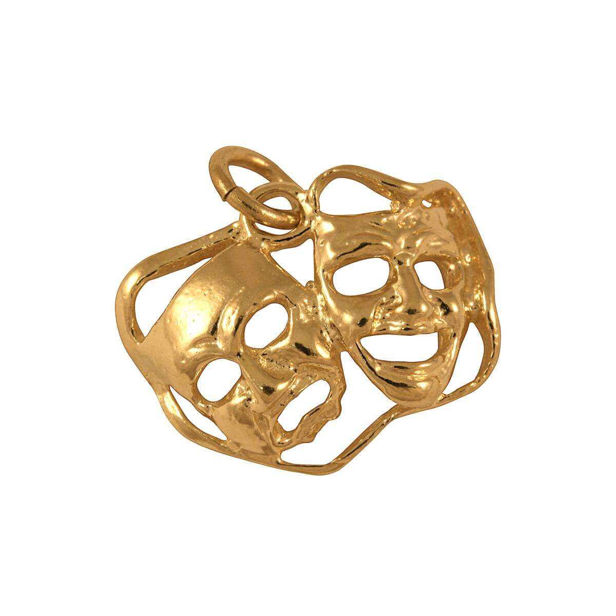 9ct Gold Comedy Tragedy Masks Charm