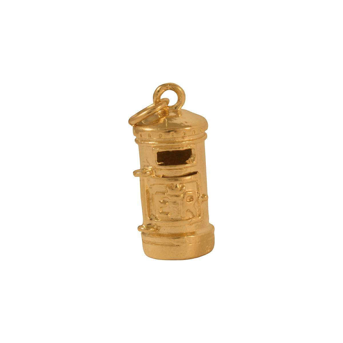9ct Gold Post Box Charm
