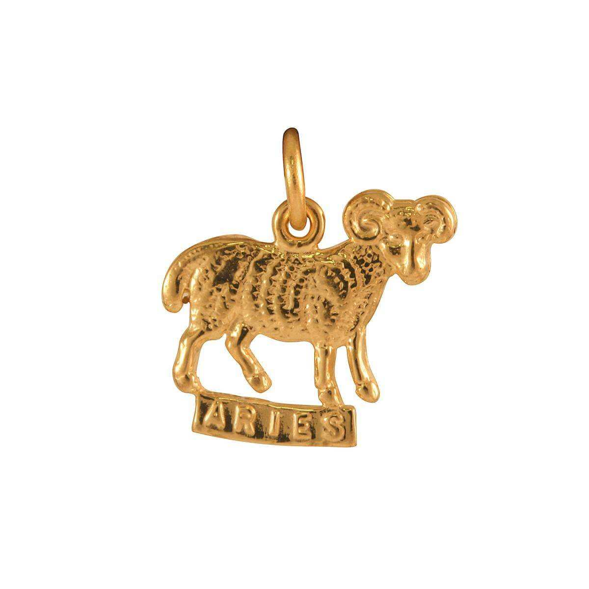 9ct Gold Aries Ram Charm