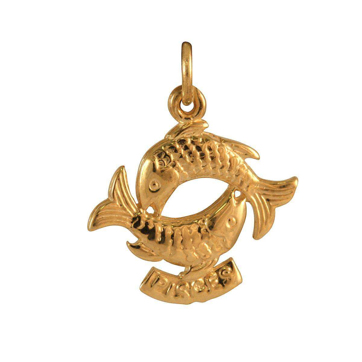 9ct Gold Pisces Fish Charm