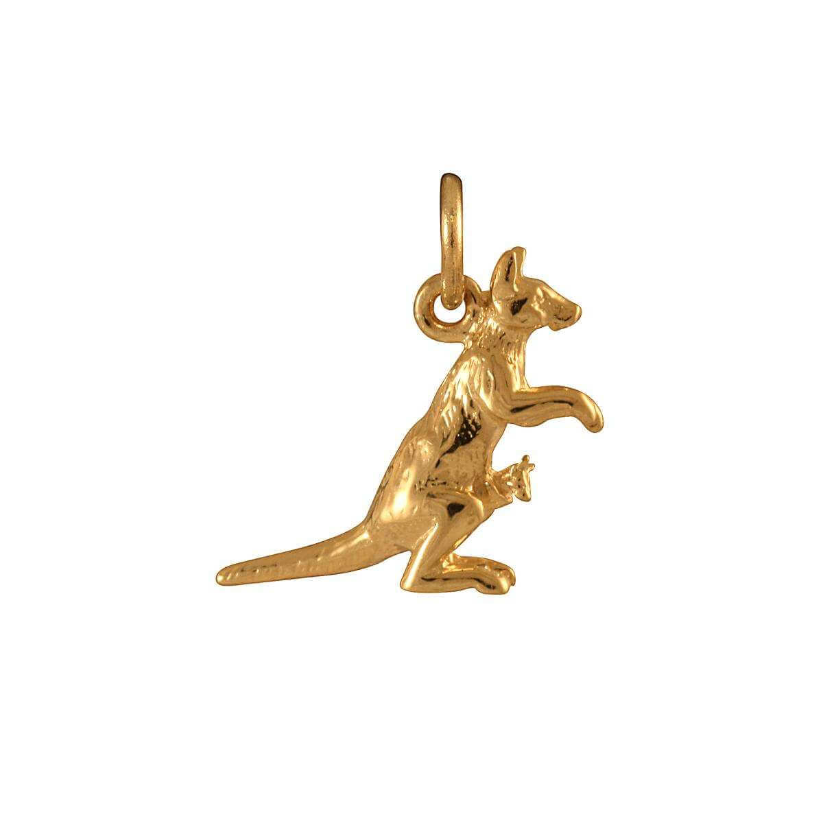 9ct Gold Kangaroo with Joey Charm
