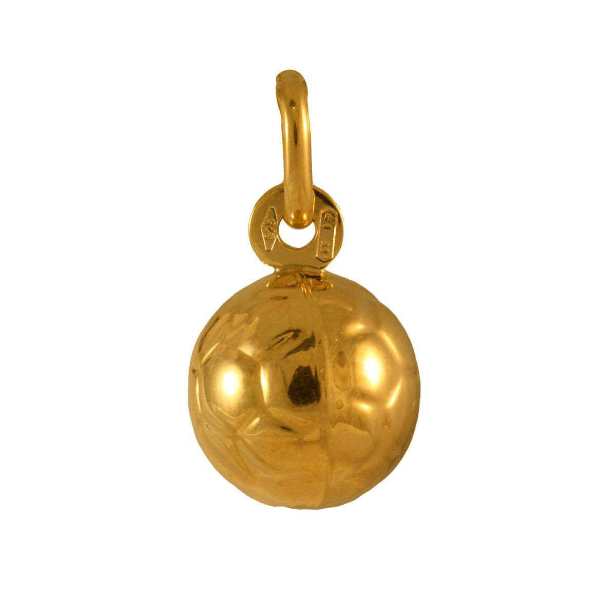 9ct Gold Hollow Football Charm